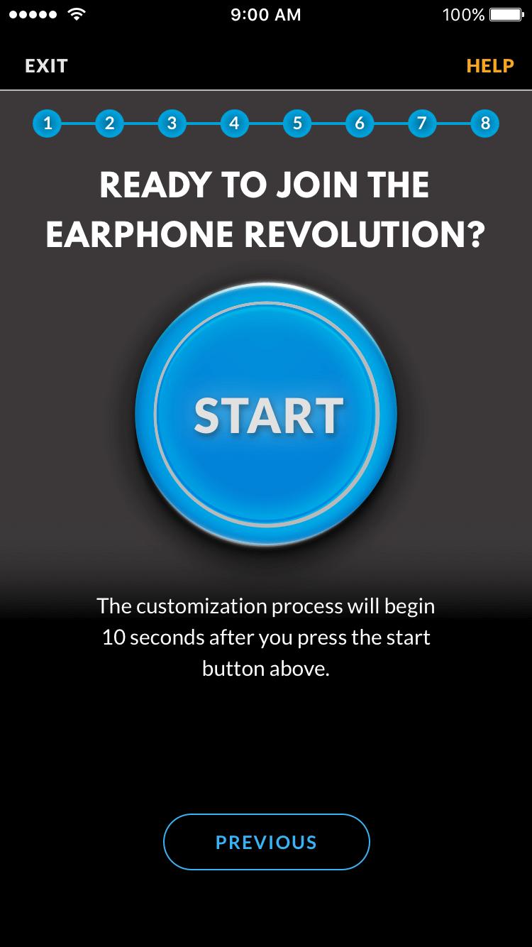 Revols customization process UI