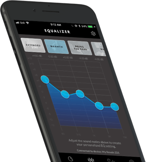 Revols Mobile App equalizer UI screen