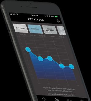 Revols Mobile App equalizer UI screen