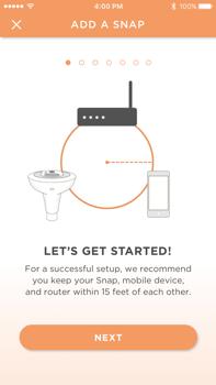 Sengled snap mobile app onboarding UI