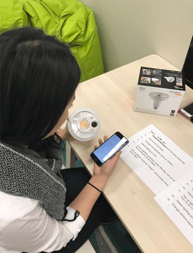 Sengled user testing session in process